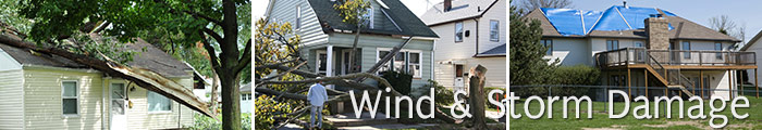 Wind Damage Repair in MI, including Dearborn, Livonia & Warren.